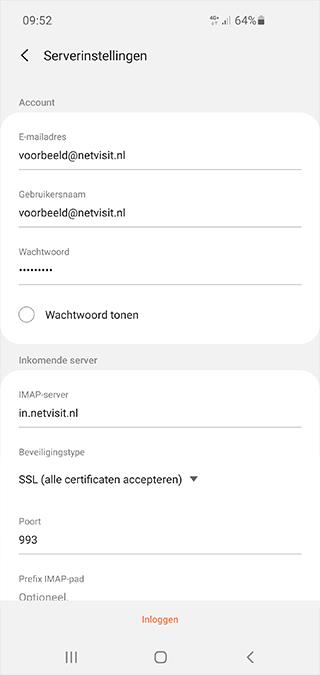 Android Tablet Mail SKV - Netvisit Stap 5