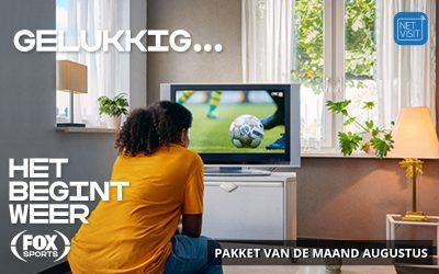 FOX Sports Eredivisie – pakket van de maand augustus bij Netvisit