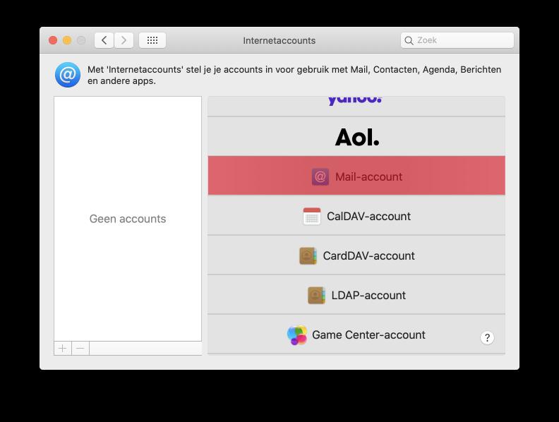 Mail instellen Apple Mail SKV stap 4