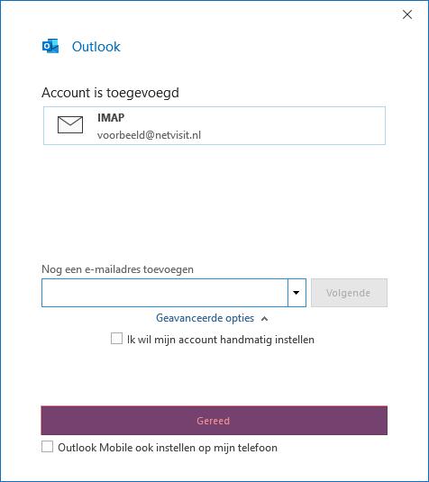 SKV mail instellen microsoft office 365 stap 6