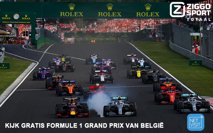 Formule 1 Grand Prix van België  – gratis bij Netvisit van 28 – 30 augustus