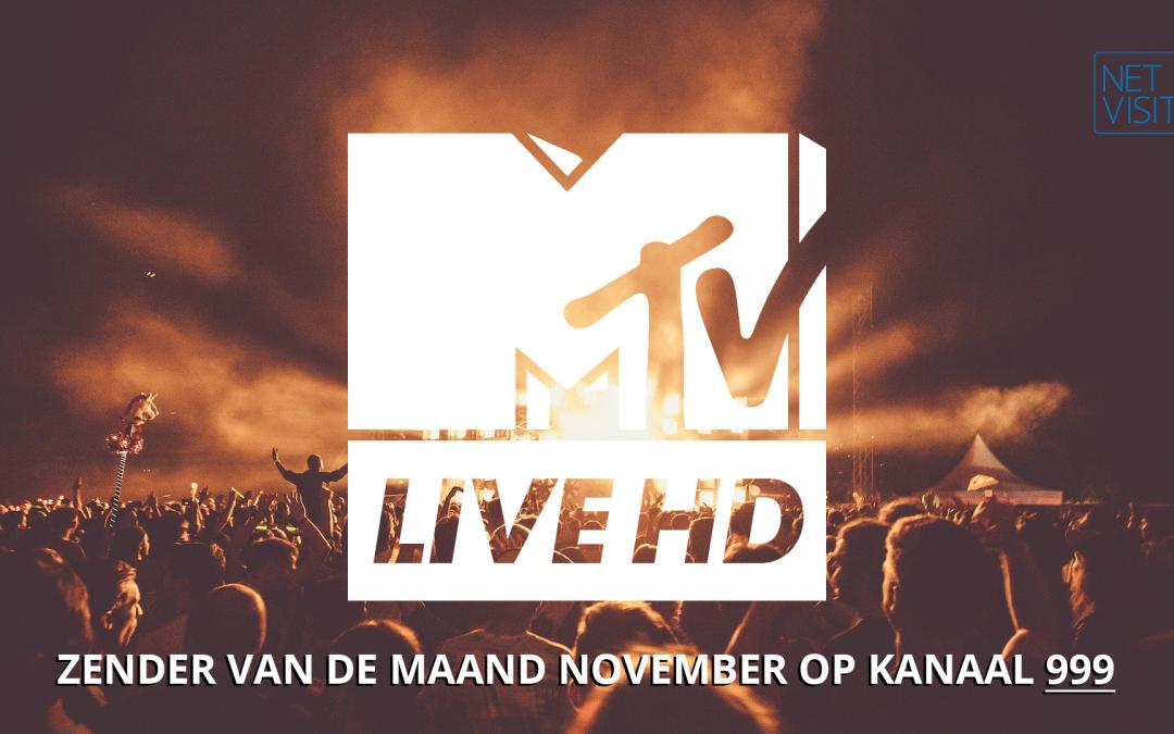 MTV Live HD zender van de maand november 2020 op kanaal 999