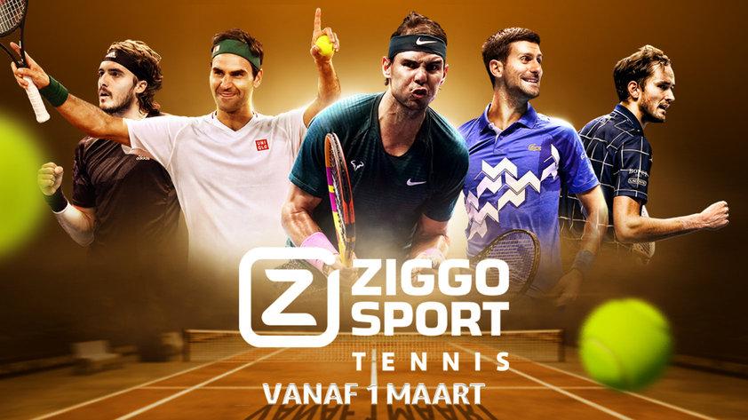 Ziggo Sport Totaal lanceert Ziggo Sport Tennis – gratis bij Netvisit van 1 t/m 7 maart 2021